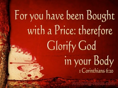 1 Corinthians 6:20 Bought With A Price (red)